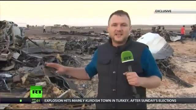 اولین تصاوبر هواپیمای سقوط کرده روسیه در مصر