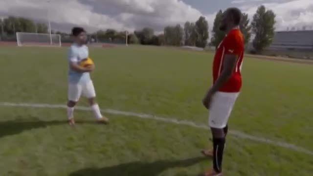 """""""اوسین بولت """" و """"آگوئرو""""!! چه کسی در فوتبال بهتر است؟"""