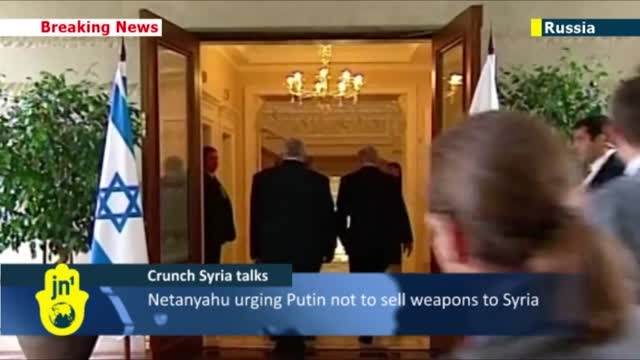 پوتین و ناتانیاهو پیرامون جنگ داخلی سوریه گفتگو کردند