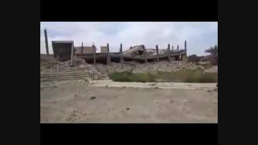 تخریب کامل مقبره صدام در حملات داعش+فیلم کلیپ ویدئو
