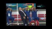 غش کردن سرمربی آرژانتین بعد از شوت مهاجم تیمش!....