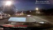 حادثه کامیون ترمز بریده 3 ماشین رو ناپید کرد 2013
