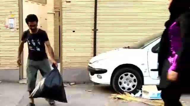 تبلیغ شهرداری کرمان برای جمع آوری زباله ...