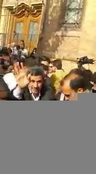 حضور دکتر احمدی نژاد در مراسم تشییع ٢٧٠ شهید در تهران