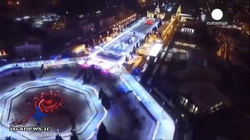 افتتاح بزرگترین پیست اسکیت روی یخ اروپا در مسکو