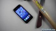 تست ضربه ایفون 5 iphone 5 apple ضربه با چاقو چکش کلید تصادف