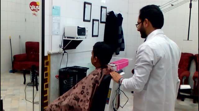 فرارازدست آرایشگر در شهرستان فردوس/بمب خنده