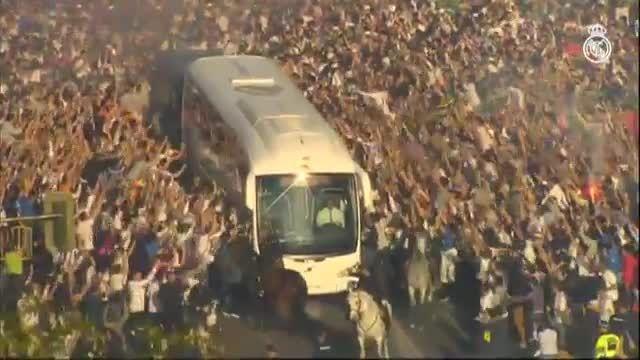 استقبال فوق العاده از اتوبوس رئال مادرید