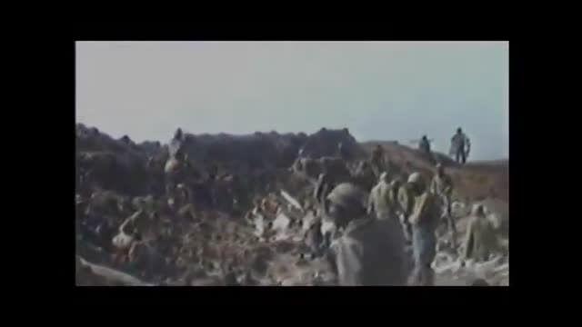 تصاویر هوایی از تشییع پیکر شهدا در شلمچه