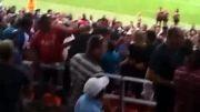 کتک کاری خفن در ورزشگاه فوتبال