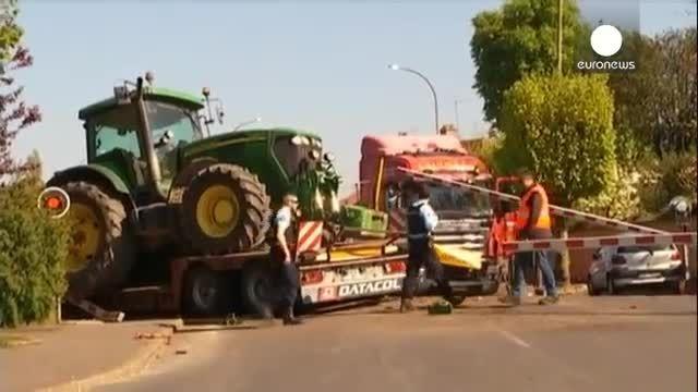 تعدادی زخمی بر اثر برخورد قطار با یک کامیون در فرانسه