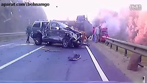 فجیع ترین تصادف در جاده +18