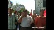 پرچم ایران در غزه به اهتزاز درآمد