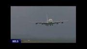 فرود هواپیما  مسافر بری به صورت عجیب