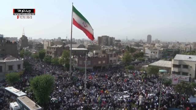 فیلم/ استقبال بی نظیر از 270 شهید گمنام/ تهران قیامت شد
