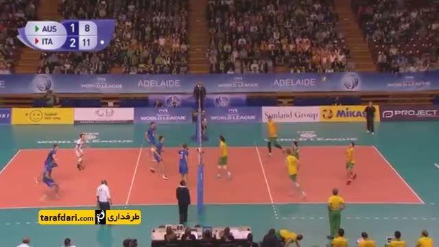لیگ جهانی والیبال؛ دفاع مستحکم استرالیا مقابل ایتالیا