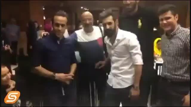 عکس گرفتن  حامد حدادی و سعید معروف..خیلی جالبه