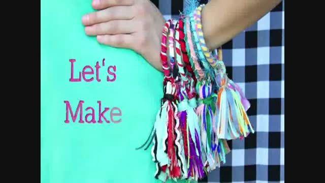 آموزش ساخت : آویز و دستبند پارچه ای بسازید