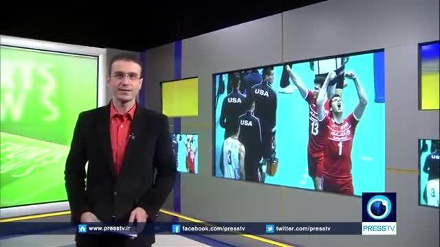ایران 3-0 آمریکا (نتیجه والیبال ایران وآمریکا درPressTV
