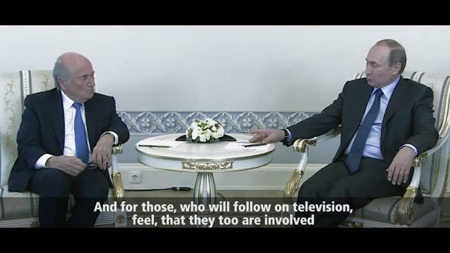 دیدار سپ بلاتر و رئیس جمهور روسیه