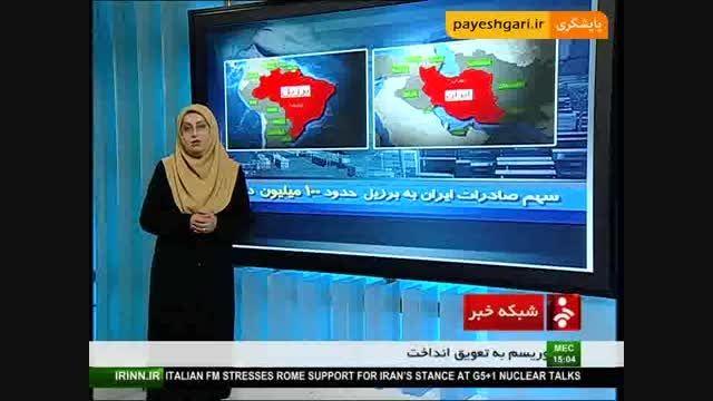 سهم صادرات ایران به برزیل