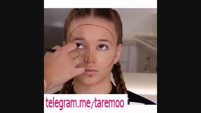 آرایش زیبای صورت و دخترانه شیک در تارمو