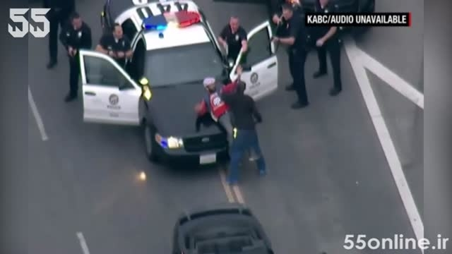 دخالت یک شهروند در عملیات تعقیب و گریز پلیسی