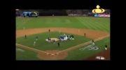 درگیری وکتک کاری در بیسبال....!