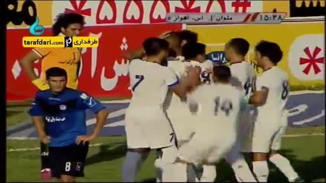 خلاصه بازی ملوان 2-0 استقلال اهواز