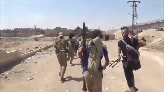 درگیری نزدیک و خیابانی نیروهای سوری و داعش تروریست