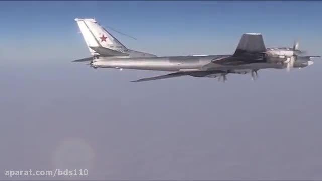 اسکورت  بمب افکن روسی tu95 توسط اف 14  ایران