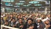 همخوانی بسیجیان در حضور رهبر انقلاب