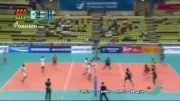 خلاصه بازی والیبال ایران 3 - 0 هند(بازی های آسیایی)