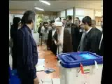 لحظه ی رای دادن مسولان