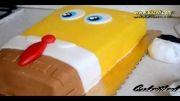 طرز تهیه کیک تولد باب اسفنجی