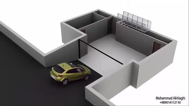انیمیشن معماری - مودلینگ معرفی جزئیات ومبلمان خانه مدرن