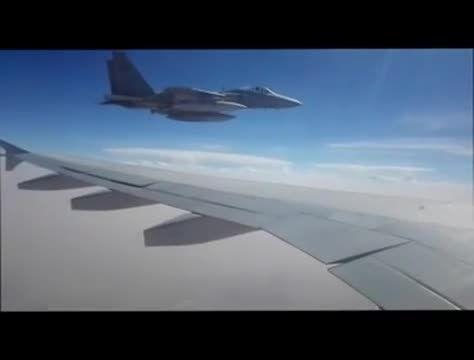 جت F-15 عربستان شانه به شانه هواپیمای ایرانی