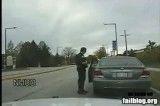 سوتی راننده متخلف بعد از جریمه شدن