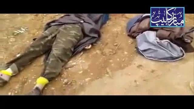 کشته شدن یک زن انتحاری داعش توسط مخالفان سوری