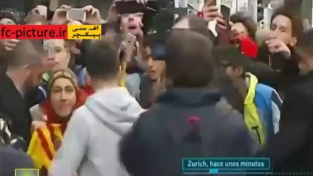 لحظه ورود مسی و رونالدو به محل برگزاری مراسم