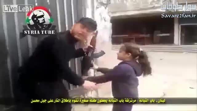 استفاده داعش از دختربچه به عنوان سپر انسانی!