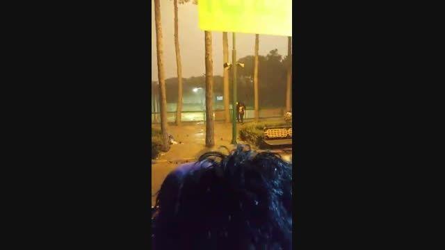 طوفان در تهران روز یکشنبه تاریخ 28/تیر /94