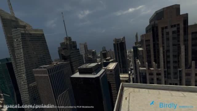 با شبیه ساز پرواز Birdly، بر فراز شهرهای بزرگ دنیا پروا