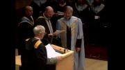 حسن روحانی لحظه دریافت دکترا  در دانشگاه گلاسکو