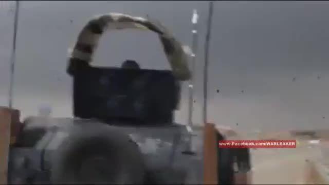 انهدام خودروی بمب گذاری شده ی داعش توسط ارتش عراق