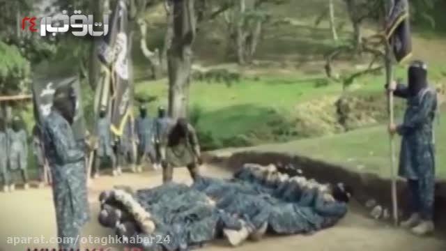 تمرین طاقت فرسا داعشی ها!