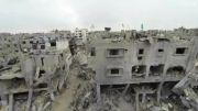 گستره ویرانی های غزه در تصاویر هوایی