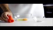 جدا کردن زرده از سفیده تخم مرغ با ماهی