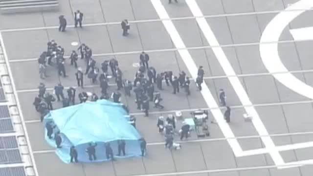 پهپادمواد رادیواکتیو روی پشت بام دفتر نخست وزیر ژاپن