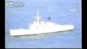 غرق ناو جنگی توسط شلیک موشک از یک زیر دریایی